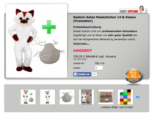 33p-Katze-Kostüm