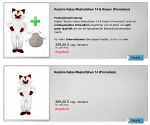 33p-Katzen-Kostüm-Maskottchen