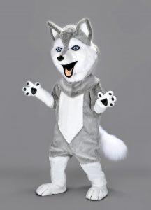 227b-Husky-Kostüm-Lauffigur