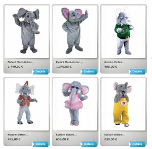 30A-Elefanten-Kostüm-Lauffigur