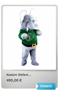 30A-Elefanten-Kostüm-Maskottchen