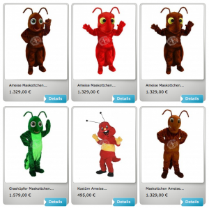Kostüm-Ameise-Lauffiguren