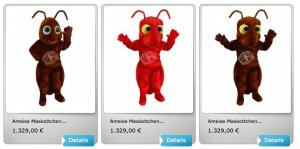 Kostüm-Ameise-Maskottchen