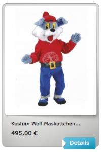 Wolf-Lauffigur-Kostüm