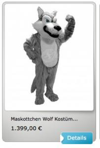 Wolf-Lauffigur-Kostüme