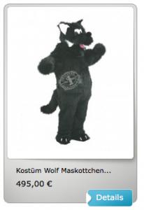 Wolf-Lauffiguren-Maskottchen