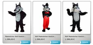 Wolf-Lauffiguren-Maskottchen-Kostüme