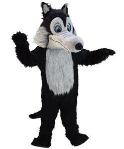 Wolf-Maskottchen-Lauffiguren