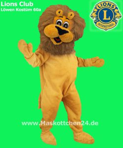das lions club l wen kost m 60a ist maskottchen. Black Bedroom Furniture Sets. Home Design Ideas